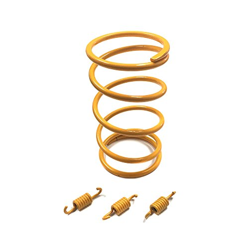 MYK Chinese Scooter High Performance Racing Torque and Clutch Shoe Springs SET GY6 50cc-100cc also fits 139QMB and 1P39QMB Engines Scooter Moped ATV (1500RPM, YELLOW) (Spring Clutch Racing)
