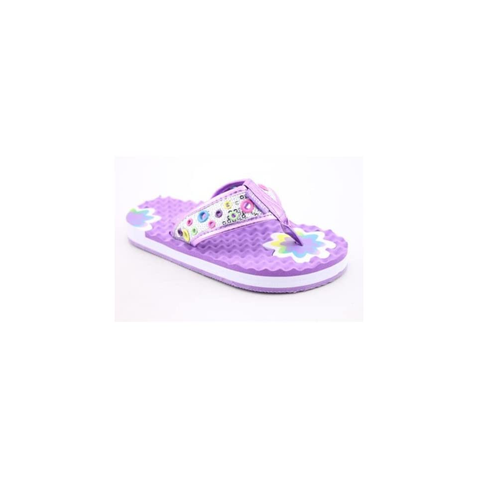Skechers Works Silly Girls Youth Kids Girls Size 5 Purple Sandals Shoes