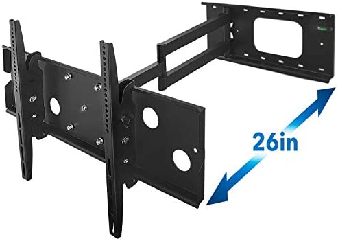 Mount-It Long Arm TV Wall Mount with 26 Inch Extension, Swing Out Full Motion Design for Corner Installation, Fits 40 50, 55, 60, 65, 70 Inch Flat Screen TVs, 220 Lb Capacity