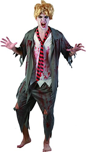 YOU LOOK UGLY TODAY Men's Gothic BLOODY HIGH Halloween Party Costume Adult Costumes -One Size Fits Most
