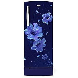 Whirlpool 200 L 4 Star Inverter Direct-Cool Single Door Refrigerator (215 ICEMAGIC PRO ROY 4S INV, Sapphire Hibiscus…