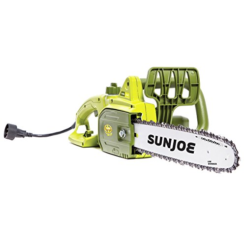 [해외]선 조 SWJ699E 14 인치 9.0 앰프 전기 체인 톱 녹색 / Sun Joe SWJ699E 14-Inch 9.0 Amp Electric Chain Saw Green