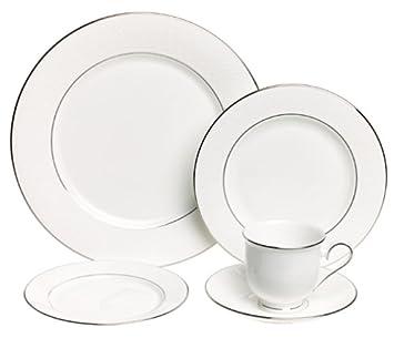 Lenox Hannah Platinum Fine Bone China 20-Piece Dinnerware Set Service for 4  sc 1 st  Amazon.com & Amazon.com | Lenox Hannah Platinum Fine Bone China 20-Piece ...