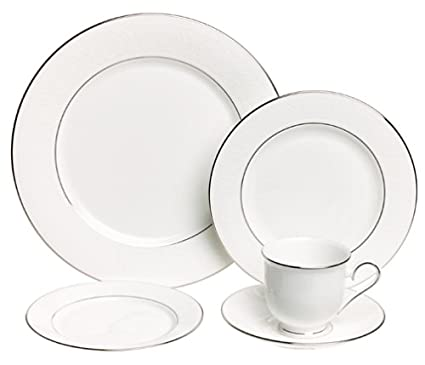 Amazon.com | Lenox Hannah Platinum Fine Bone China 20-Piece ...