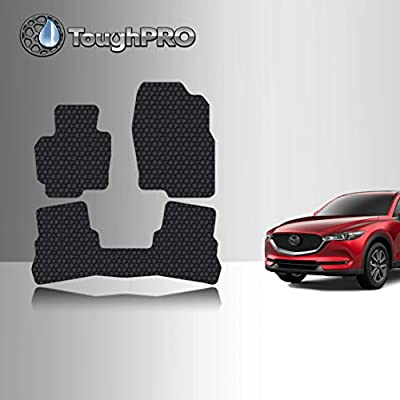 TOUGHPRO Floor Mat Accessories Set (Front Row + 2nd Row) Compatible with Mazda CX-5 - All Weather - Heavy Duty - (Made in USA) - Black Rubber - 2020, 2020, 2020, 2020: Automotive