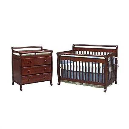 Amazon Com Davinci Emily 4 In 1 Convertible Wood Baby Cherry Crib