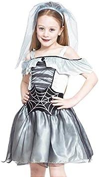 Disfraz Novia Cadáver Spiderweb para Niña Halloween (4-6 años ...