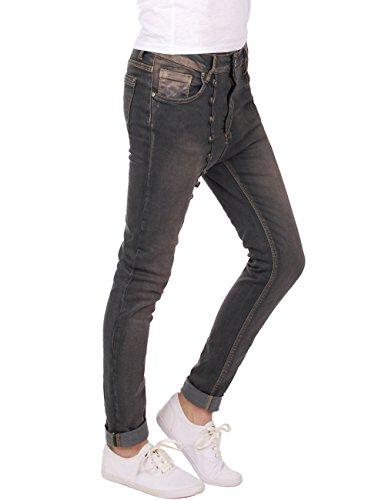 femmes pantalon dcontract Fonc Gris Fraternel jeans baggy 8qwEU0n8Cf
