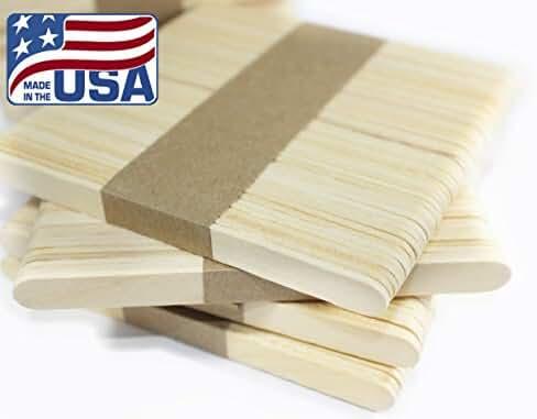 Wooden Ice Cream Stick • Popsicle Stick • Caramel Apple Stick • Crafts Stick • Wooden Treat Sticks • Building Model (100 PCS)