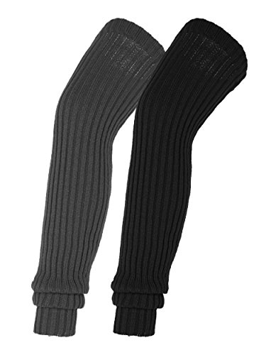 Urban CoCo Women's Winter Knee High Footless Socks Knit Crochet Leg Warmer (#3)