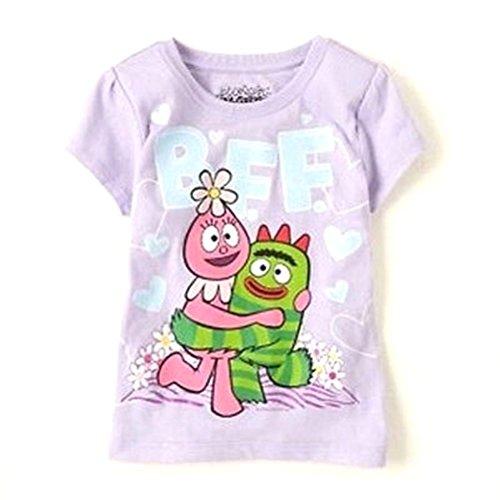 Yo Gabba Gabba BFF Purple Short Sleeve T Shirt Tee Toddler Girl 3T