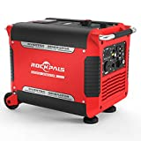 Rockpals 3000-Watt RV Ready Portable Inverter Generator with Electric Start, Super Quiet Gasoline Powered Generator, CARB Compliant with Eco-Mode, Parallel Ready, Dual 120V AC Outlet, 2 USB Ports