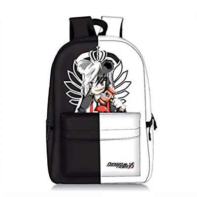 PaPama Boys Girls Monokuma Canvas Bag Travel Backpack with Front Pocket-Kids Students Danganronpa Bookbag for School | Kids' Backpacks