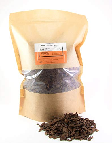 FRENCH OAK CHIPS HEAVY TOAST 1000G - Anginge Wine Whiskey, Oak Flakes, Barrel Aged Flavor, Homebrewing, Oak Vodka