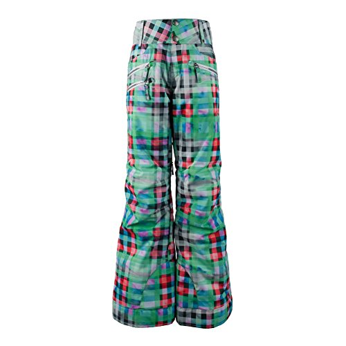 Obermeyer Kids Girl's Jessi Pants (Little Kids/Big Kids) Plaid Haze Pants XL (18 Big Kids) by Obermeyer Kids