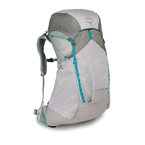 Osprey Women's Lumina 45 Backpacking Cyan Silver Black M