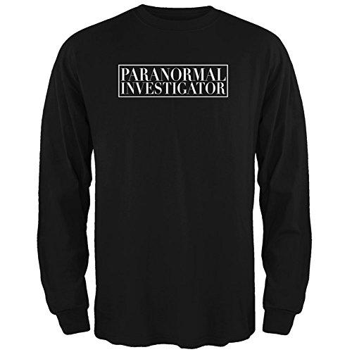 Halloween Paranormal Investigator Black Adult Long Sleeve T-Shirt - (Paranormal Investigator Costume)