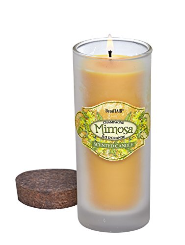 Mimosa Ginger (DecoFlair Cocktail Lounge Candle - Highball Glass - Mimosa Scent 6oz.)