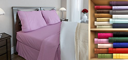Clara Clark Premier 1800 Series, Twin Size 3 Pc. Sheet set, Light Pink (Product Mattress Set Premiere)
