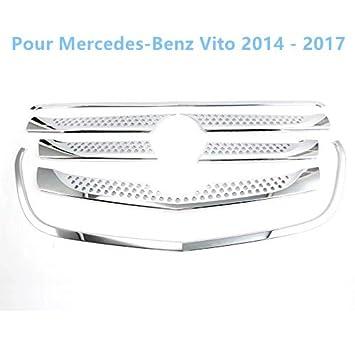 ABS cromo interior delantero centro rejilla Grill + funda borde Raya 7 piezas para Vito W447 2014-2018 coche accesorios: Amazon.es: Coche y moto
