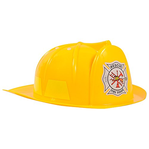 Fireman Hat - Fireman Costume for Kids - Yellow Hard Hat by Funny Party Hats (Fireman Costumes)