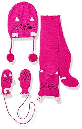 Kidorable Girls' Little KNITSET:CAT S, magenta pink medium