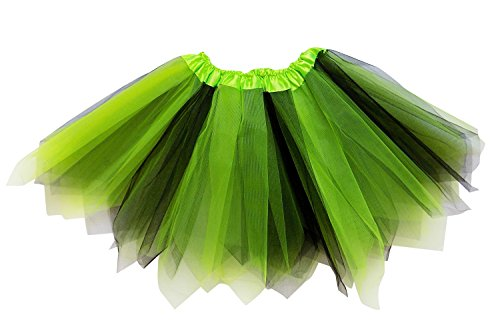 So Sydney Adult Plus Kids Size Pixie Fairy Tutu Skirt Halloween Costume Dress Up (XL (Plus Size), Lime Green & -