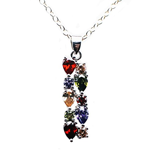 Garnet Rose Jewelry Set (Classic Multi Gemstones Silver Sets, Amethyst Garnet Morganite Peridot (Pendant))