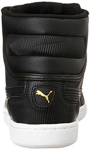 Nero Mid Puma Sneakers Pelle Donna Deboss Vikky ZHnwFaxEqY