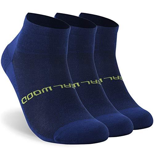 Running Socks, ZEALWOOD Meirno Wool Ultralight No Show Athletic Running Socks for Men and Women Best Christmas Gifts For Women
