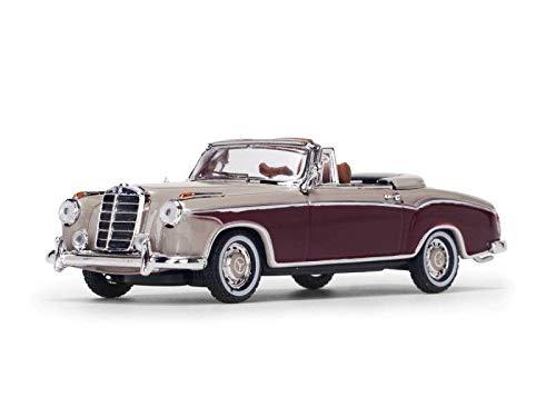 - 1958 Mercedes Benz 220 SE Cabriolet Light Ivory and Red 1/43 Diecast Model Car by Vitesse 28627