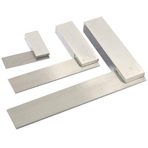 YaeTek Machinist Squares 90 Degree Right Angle Engineer's Set- 2'' 4'' 6'' DIN STANDARD 875, Machinist Square Set, 3-PIECE by YaeTek (Image #4)