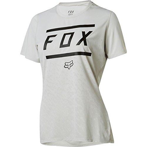 Fox Racing Ripley Short-Sleeve Jersey - Women's Bars Cloud Grey, M by Fox Racing