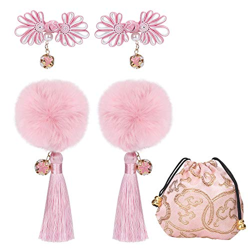 Chinese Style Girls Hairclips Set (Pink) (Dresses Chinese Chinese Dress)
