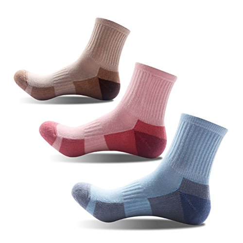 3 Pairs Women Girls Running Hiking Socks - Outdoor Sports Walking, US Size 5-9 for cheap