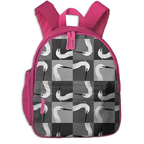 Egret Head Little Kid Baby Toddler Backpack School Travel Bag With Pocket For Boys/Girls