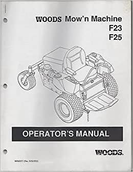 2002 WOODS MOW'N MACHINE F23, F25 P/N MAN0071 OPERATOR'S