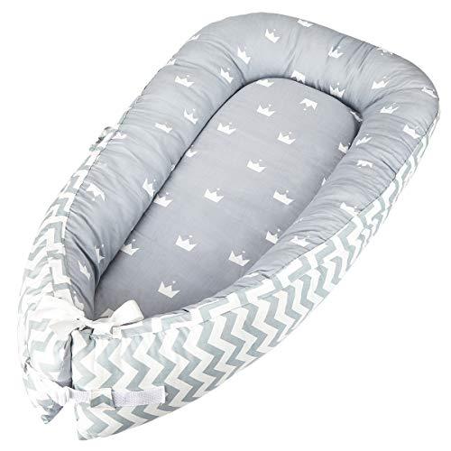 Luchild Nido Bebe Recien Nacido, Reductor de Cuna Nidos, Cama cana nido de viaje Doble Caras para bebe dormir