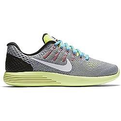 Nike Womens Lunarglide 8 Wolf Greywhitevoltgamma Blue Running Shoe 8 Women Us