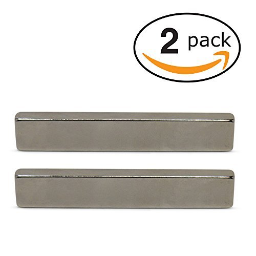 Super Magnet Man - Neodymium Bar Magnets (INDUSTRIAL STRENGTH - 2 PACK) Incredibly Strong 33+ LB Strength - N45 Grade Heavy Duty - Powerful Rare-Earth Metal Neodymium Magnet - 3