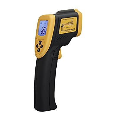 Etekcity Lasergrip 800 Non-contact Digital Laser IR Infrared Thermometer -58? - 1382? (-50? to 750?), Yellow/Black