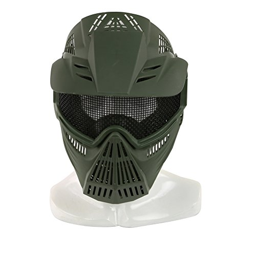 Paintball Masks,YASHALY Adjustable CS Military Tactical Gear Full Face Airsoft Mask with Mesh Eye Protection for Shooting Hunting Cycling Motorcycle (Diy Bane Mask)