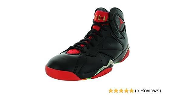 70a8c2d6465 Amazon.com: Jordan mens Air Jordan 7 Retro Black/green Pulse/ Cool  Grey/University 304775-029 11: Sports & Outdoors
