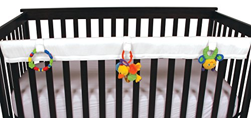 Leachco Easy Teether - Crib Rail Cover for cribs with THINNER railing (circumference of 7.5'' or less) - White by Leachco