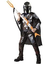 The Mandalorian Kids Halloween Costume Medium (8/10) Jumpsuit/Cape/Mask/Holographic Detail