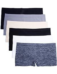 6 Pack Nylon Spandex Plus Size Hipster Boy Short Panties