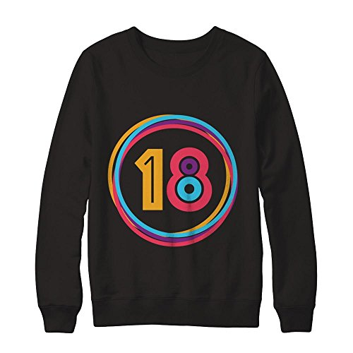 Teely Shop Men's Woman's 18 Years Old Costume Birthday Gildan - Pullover Sweatshirt/Black/3XL -