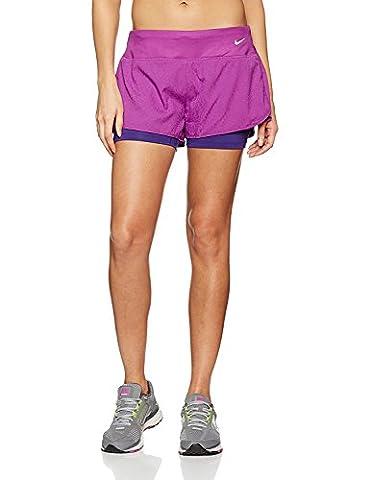 Nike Women's Dri-Fit 2-In-1 Rival Running Shorts-Purple-XL (Nike 5 0 Men Green)