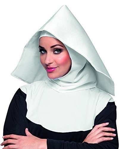 White Mother Superior Nun Hood Habit Fancy Dress Accessory by BOLAND (Superior Nun)