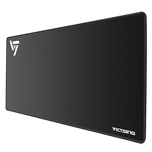 VicTsing Extended Gaming Mouse Pad, Thick Large (31.515.750.08 inch) Computer Keyboard Mousepad Mouse Mat, Water-Resistant, Non-Slip Base, Durable Stitched Edges, Ideal for Both Gaming